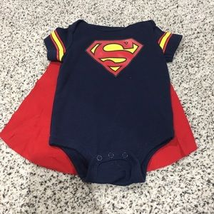 Superman onesie with cape 3-6 months